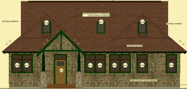 Front Elevation For Adirondack