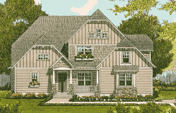 Front Elevation For Country Tudor