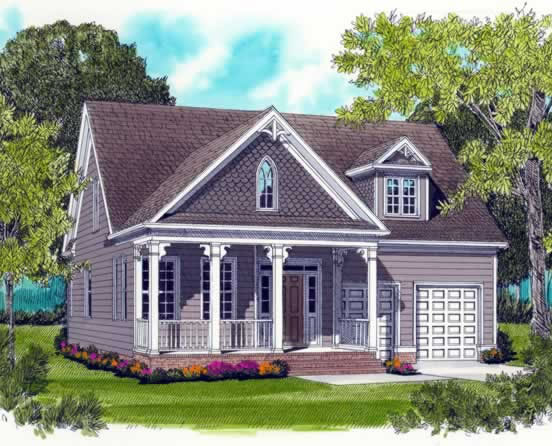 Front Elevation For Cozy Colonial