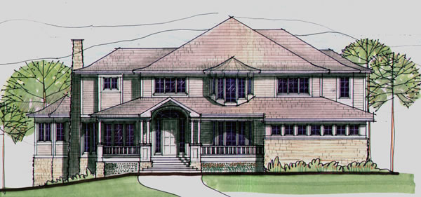 Front Elevation For Lake Manor