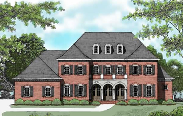 Front Elevation For Traditional Manor
