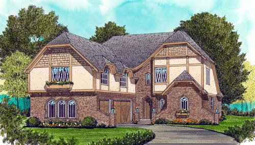 Front Elevation For Tudor Revival