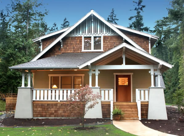 Classic bungalow plans for a 3 bedroom craftsman style home for Classic bungalow house plans