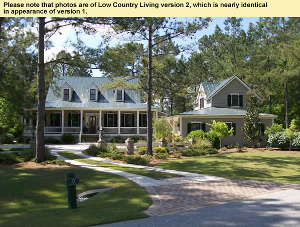 Low Country Style House Plans With Front And Rear Porches