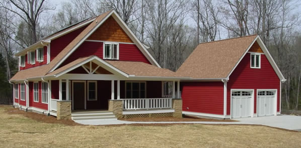 Craftsman Plans For a Simple Passive Solar 4 Bedroom Home
