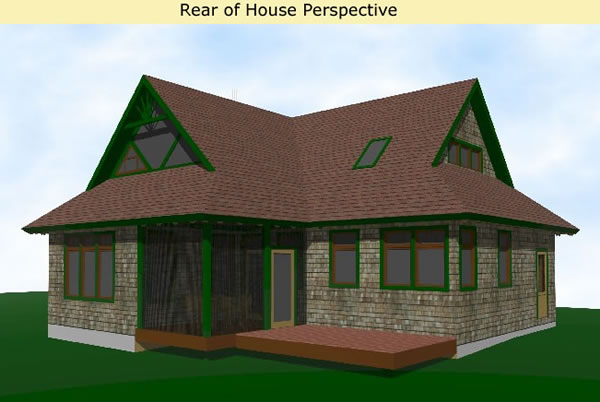 Mountain style home plans with 3 bedrooms a screen porch for Adirondack style house plans