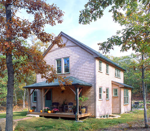 Cottage plans for a small cape cod style vacation home for Small cape cod house