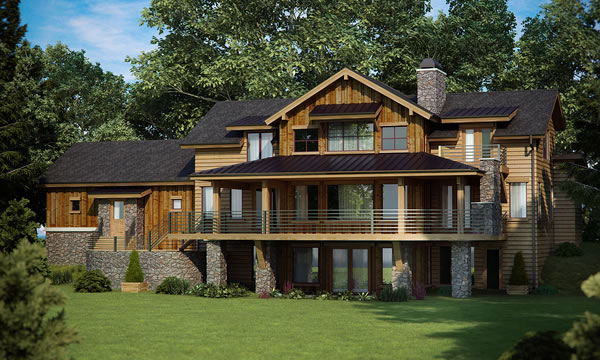 Mountain view craftsman home architectural house plans for Mountain view home plans