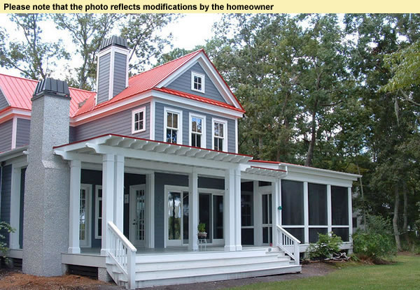 Traditional Southern House Plans With Front Rear Porches