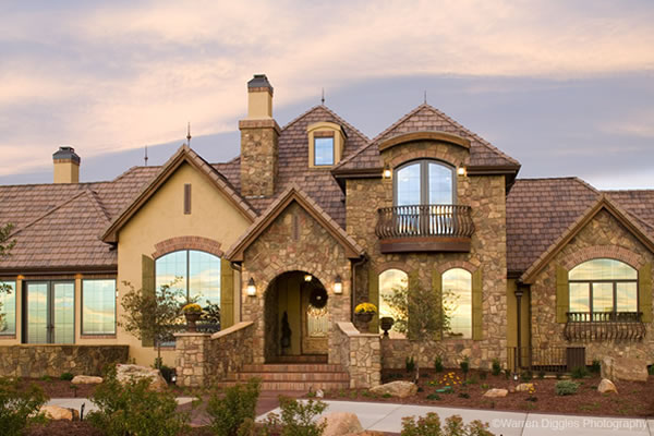European Style House Plans For A Unique 1 Story Luxury Home