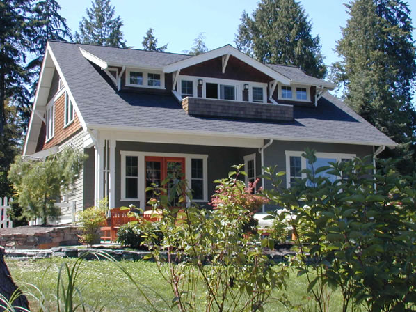 Craftsman style bungalow house plans for a narrow lot for Mission style bungalow house plans