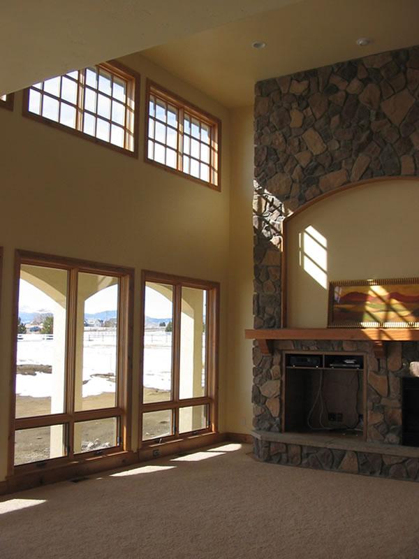 Open floor plans for a 4 bedroom with terrific rear views for Open floor plans with a view