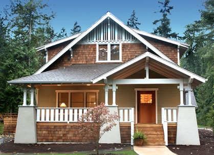 Classic bungalow plans for a 3 bedroom craftsman style home - What is a bungalow style home ...