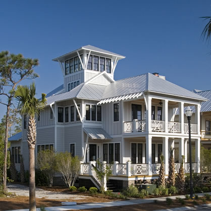 Coastal beach house plans 4 bedrooms 4 covered porches for Coastal beach house plans