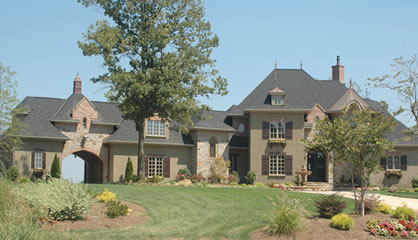 Luxury estate home plans for large french country house Large estate home plans