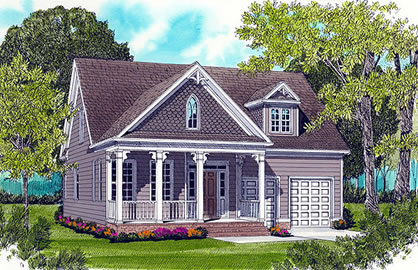 Colonial Style House Plans For a Simple 3 Bedroom Home