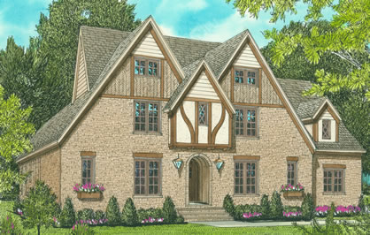 English country style tudor house plans with 4 bedrooms for English country house plans