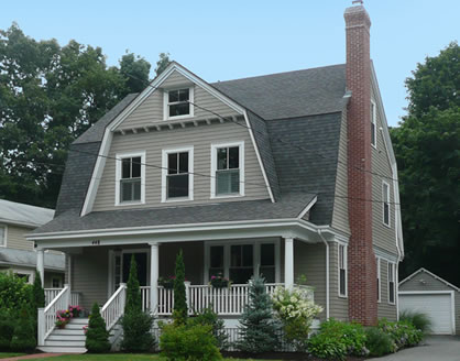 gambrel roof house