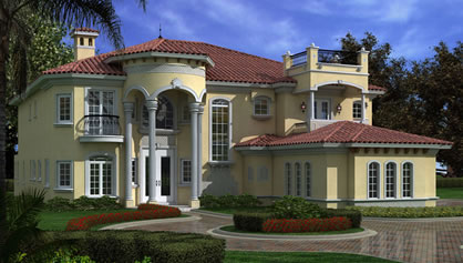 6 Bedroom Plans For A Mediterranean Style Luxury Home
