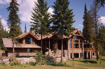 Mountain House Plans With Fantastic Front Rear Views - Luxury ranch home