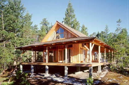 Plans For a Simple One Room Cabin With a Wrap Around Deck