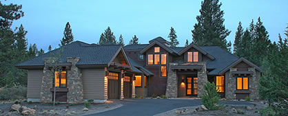 Craftsman Home Plans For a 4 Bedroom Lodge Style House
