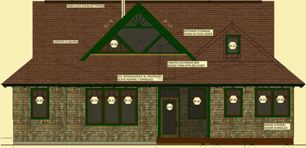 Rear Elevation For Adirondack