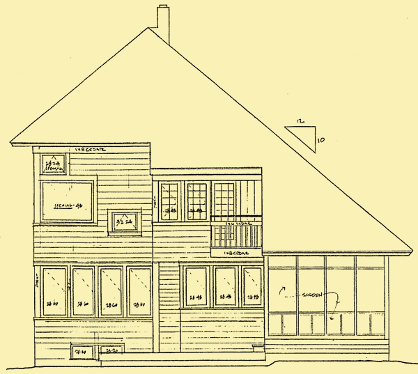 Rear Elevation For Family Tradition