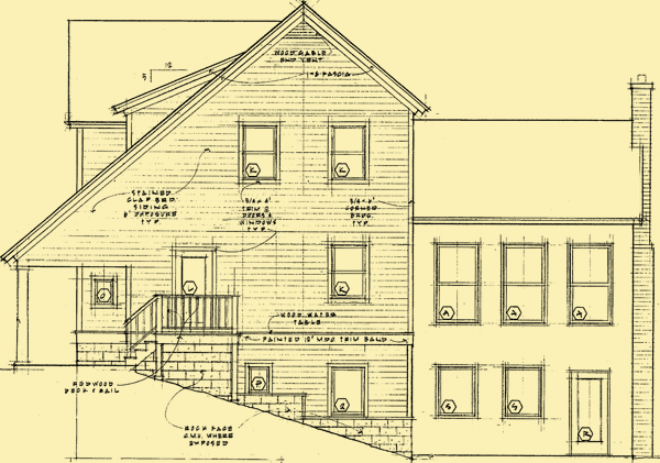 Rear Elevation For Heartland Farmhouse