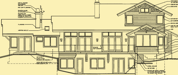 Rear Elevation For Lakeview Court