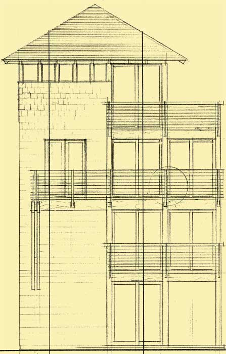 Rear Elevation For Sky High
