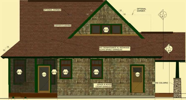 Side 1 Elevation For Adirondack