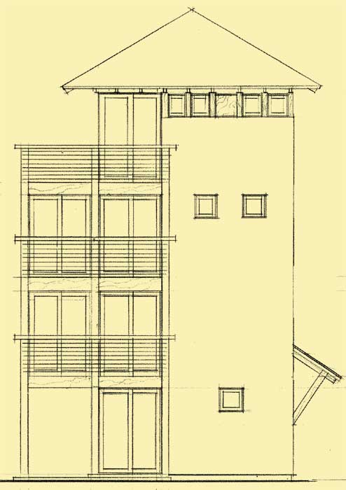 4 story house plans for very unusual 16 x16 vacation home for High elevation deck plans